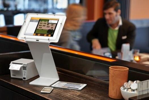 Ansicht einer iPad-Kasse bzw. eines iPad-Kassensystems