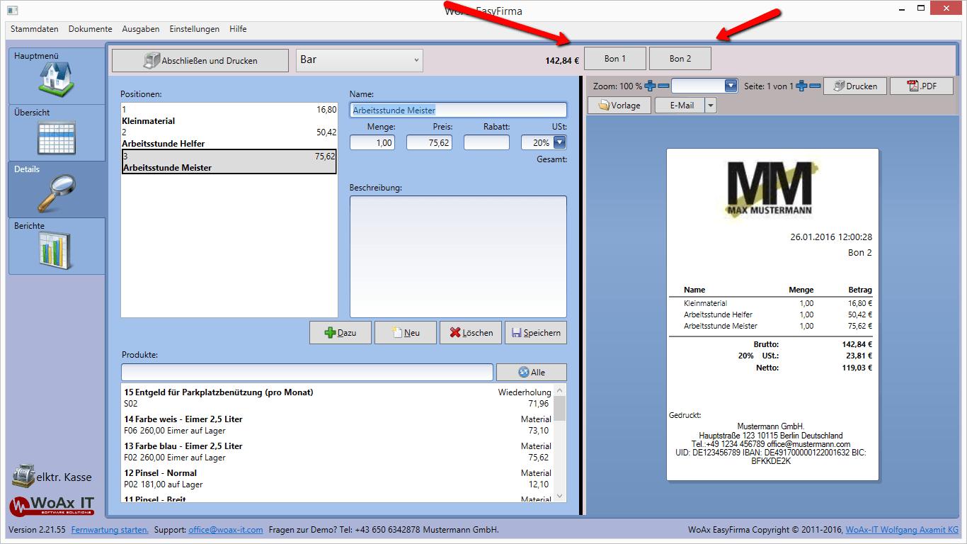 Registrierkasse EasyFirma