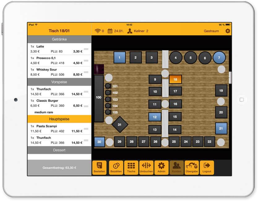 Tischplan-iPad