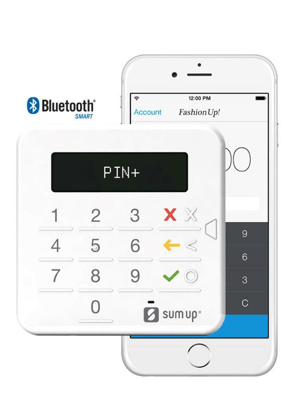 SumUp-Kartenleser und Smartphone