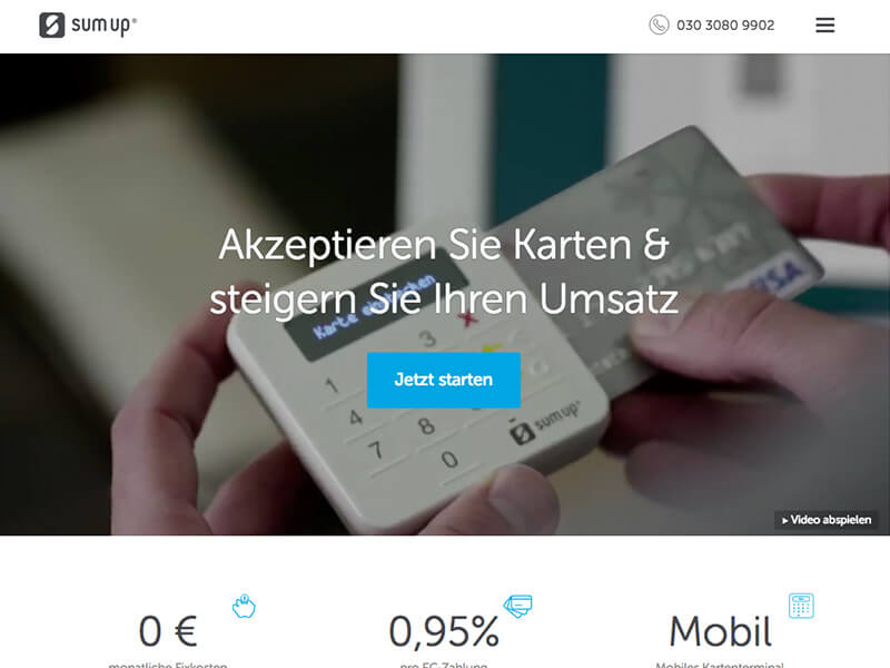 SumUp – mobiles Kartenlesegerät
