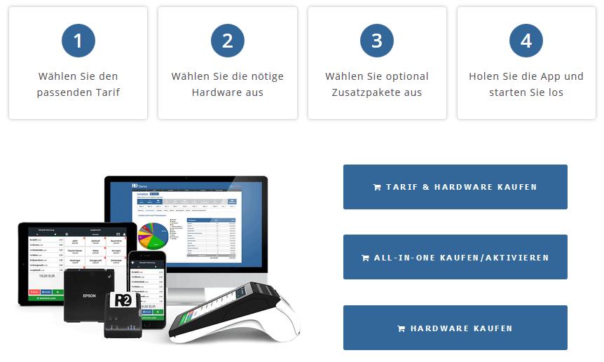 ready2order - Screenshot der Seite