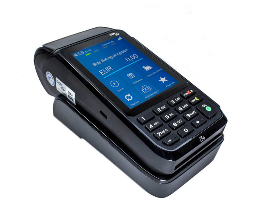 CCV Mobile Premium Kartenlesegerät mit Bondruckfunktion.