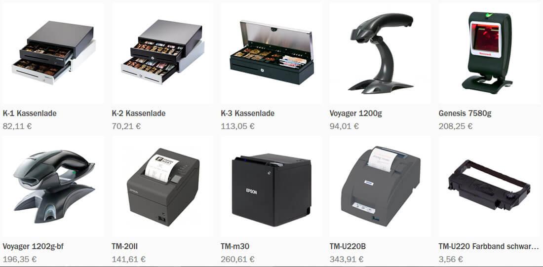 Drucker, Kassenladen, Halterungen im Online-Shop von enfore.
