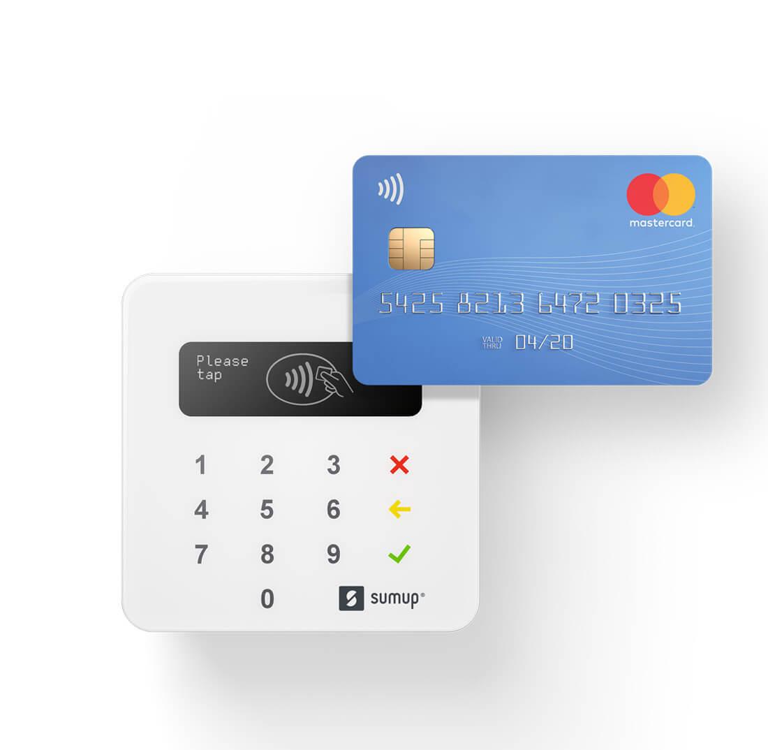 Kartenlesegerät und EC-Karte zum mobilen Bezahlen beim Anbieter SumUp