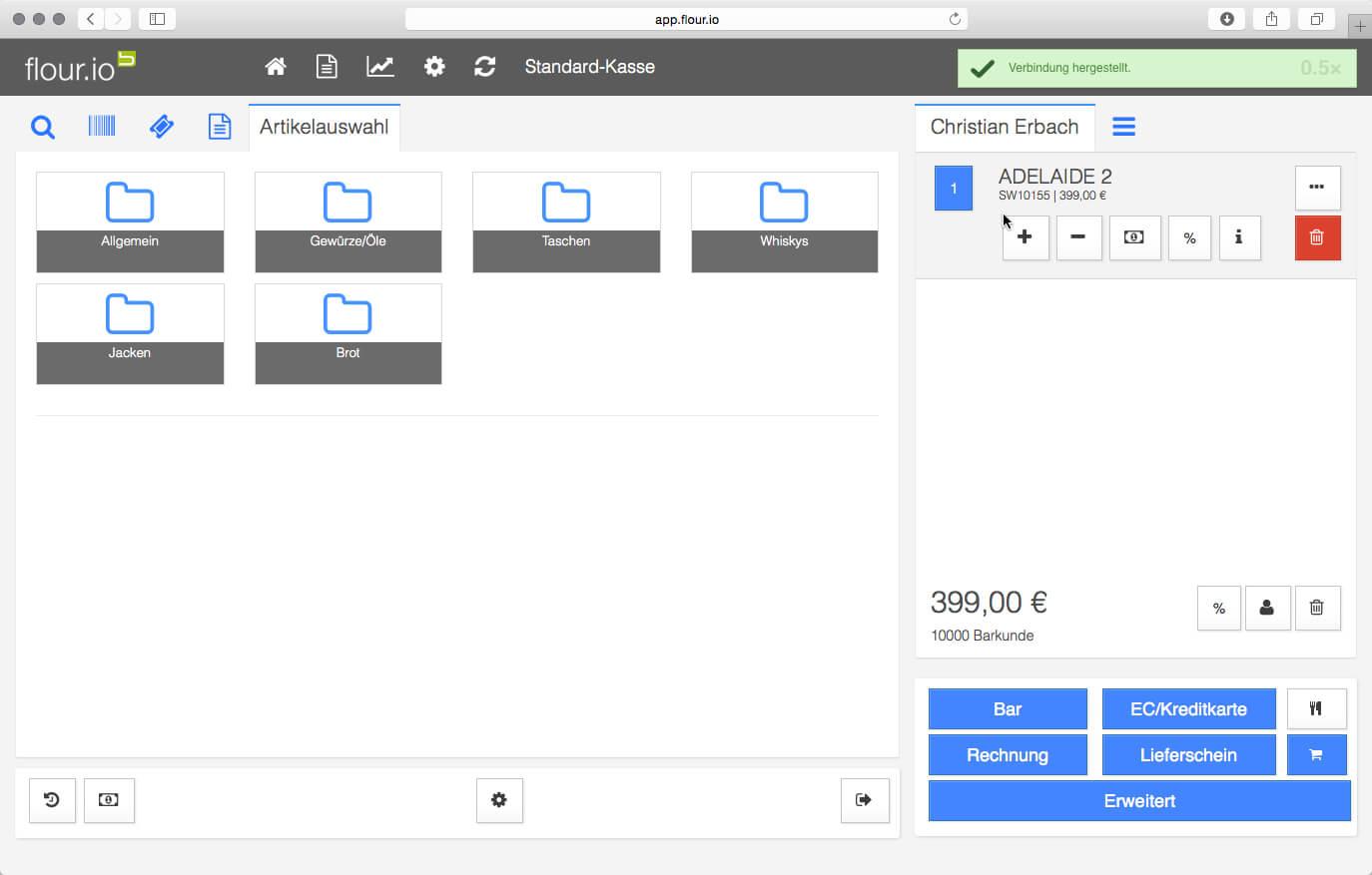 MOBILEN KASSEN SET Bondrucker Kassenschublade für iOS WINDOWS und ANDROID WiFi