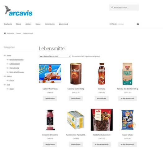 Arcavis Webshop