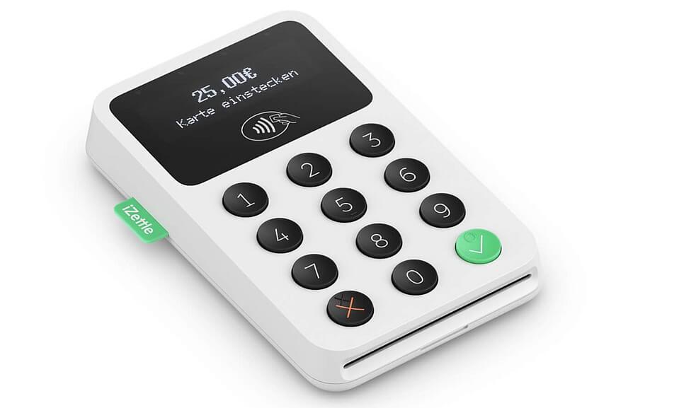 Im Bild ein mobiles Kartenlesegerät