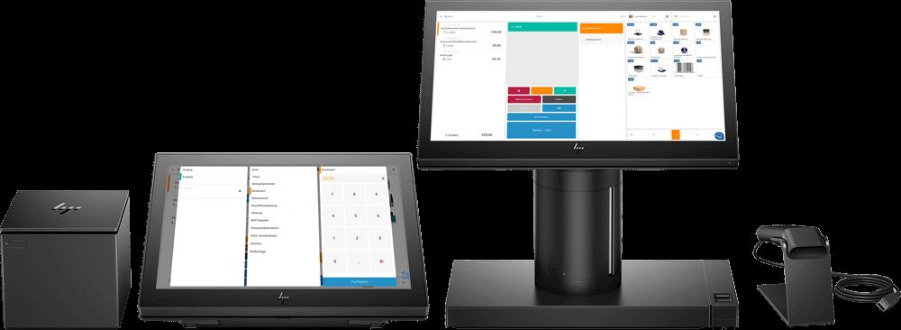 Hardware von Etron: Tablet, Bondrucker, Scanner, Bildschirm