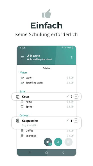 Die App des Kassensystems NYMESIS für Android bei GooglePlay