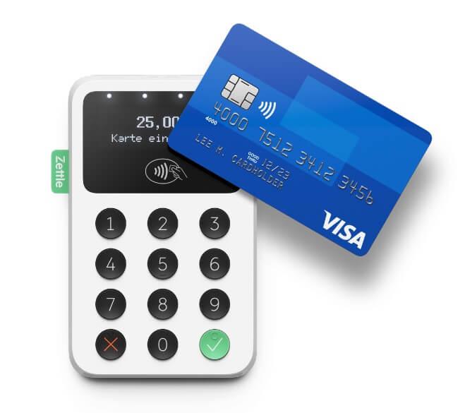 Beispiel für ein mobiles Kartenlesegerät