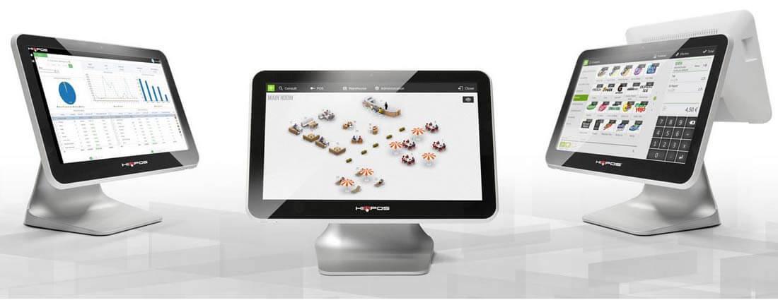 Übersicht der Zusatzgeräte wie Scanner, Drucker und Kartenlesegeräte für das HioPOS Kassensystem