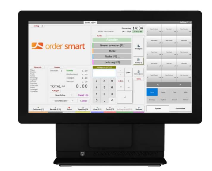 Einblick in das Kassensystem von order smart